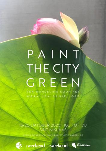 Communiqué de presse : L'Exposition 'Paint the City Green' de Daniel Ost est reportée à l'automne