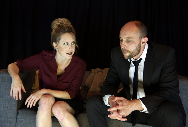 The Emissary with Emily Child and Andrew Laubscher - credit Nardus Engelbrecht Cape Town Fringe 2016