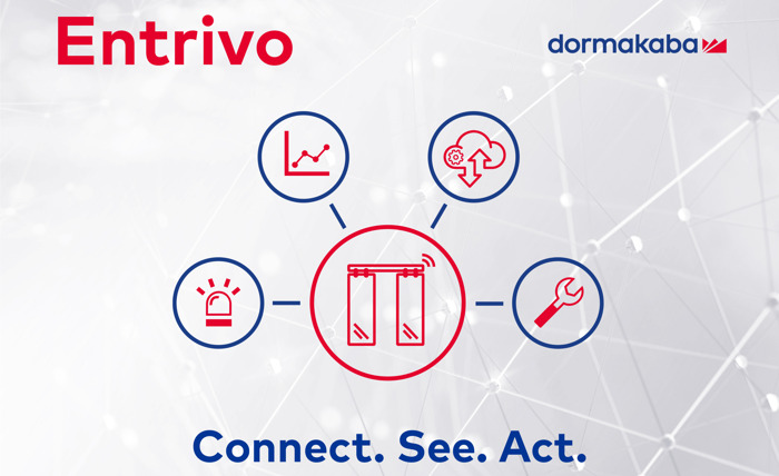 """Entrivo"" by dormakaba – IoT services for automatic door operators"