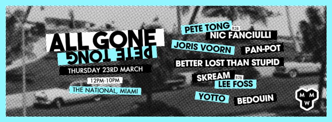 All Gone Pete Tong Pool Party - Miami Music Week
