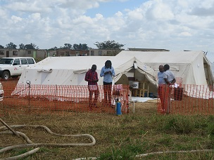 Cholera treatment unit set up by MSF to respond to the cholera outbreak in Stoneridge, Harare