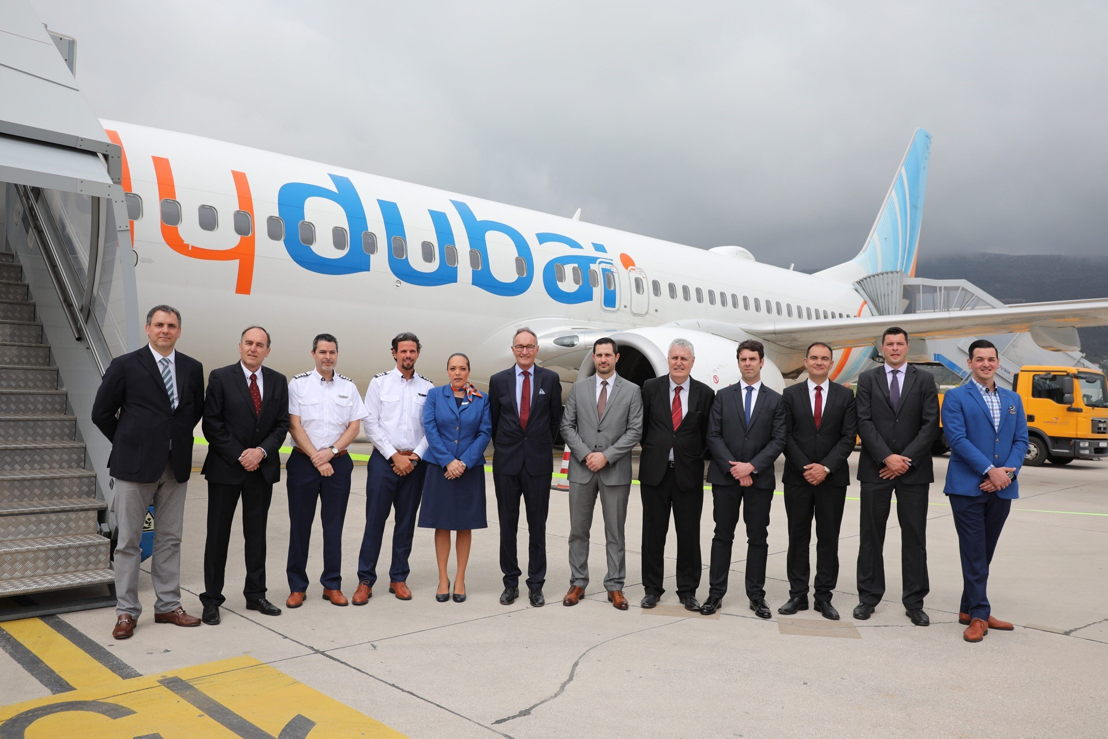 Dubai-based flydubai's first flight touched down today in Dubrovnik (DBV)