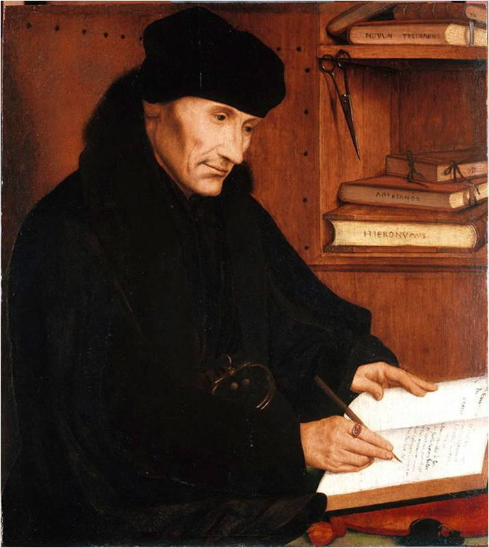À la recherche d'Utopia © Quinten Massys, Portrait of Erasmus of Rotterdam, 1517, Palazzo Barberini, Rome
