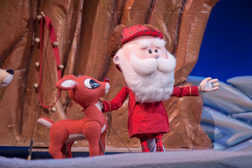 Santa's sleigh brings Rudolph for an extended stay at the Center for Puppetry Arts, November 7-December 31