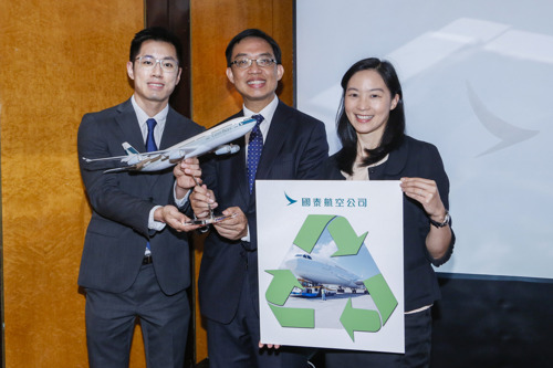 Cathay Pacific unveils its biggest environmental project - the recycling of A340 aircraft