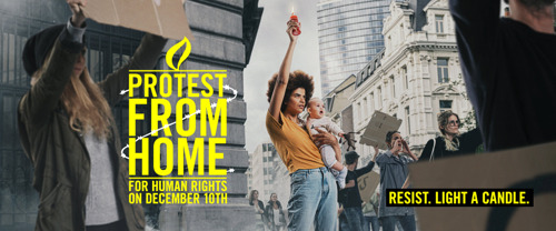 Protest from home with Amnesty.