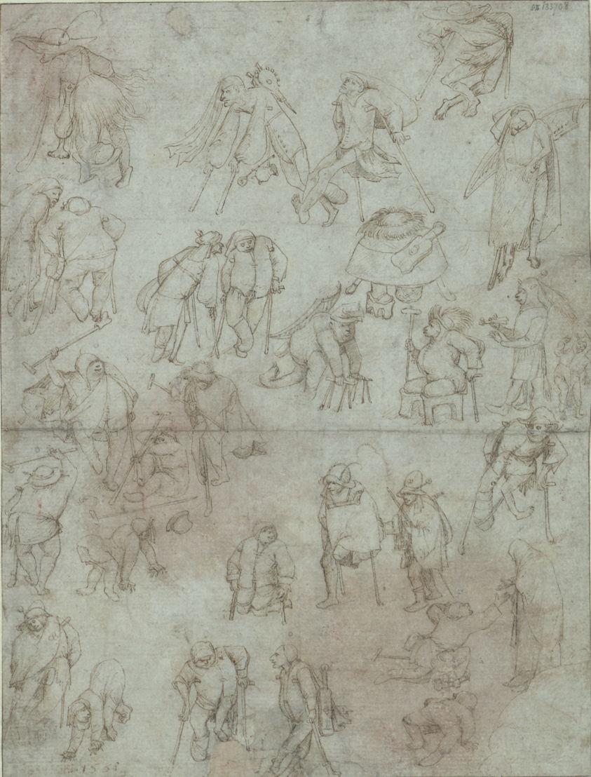 Kreupelen en bedelaars (Navolger van Jheronimus Bosch)
