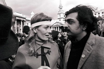 Vanessa-Redgrave-and-Tariq-Ali-attended-the-1968-World-in-Action-demonstration-against-the-war-in-Vietnam-held-in-Londons-Trafalgar-Square-on-March-16 1968