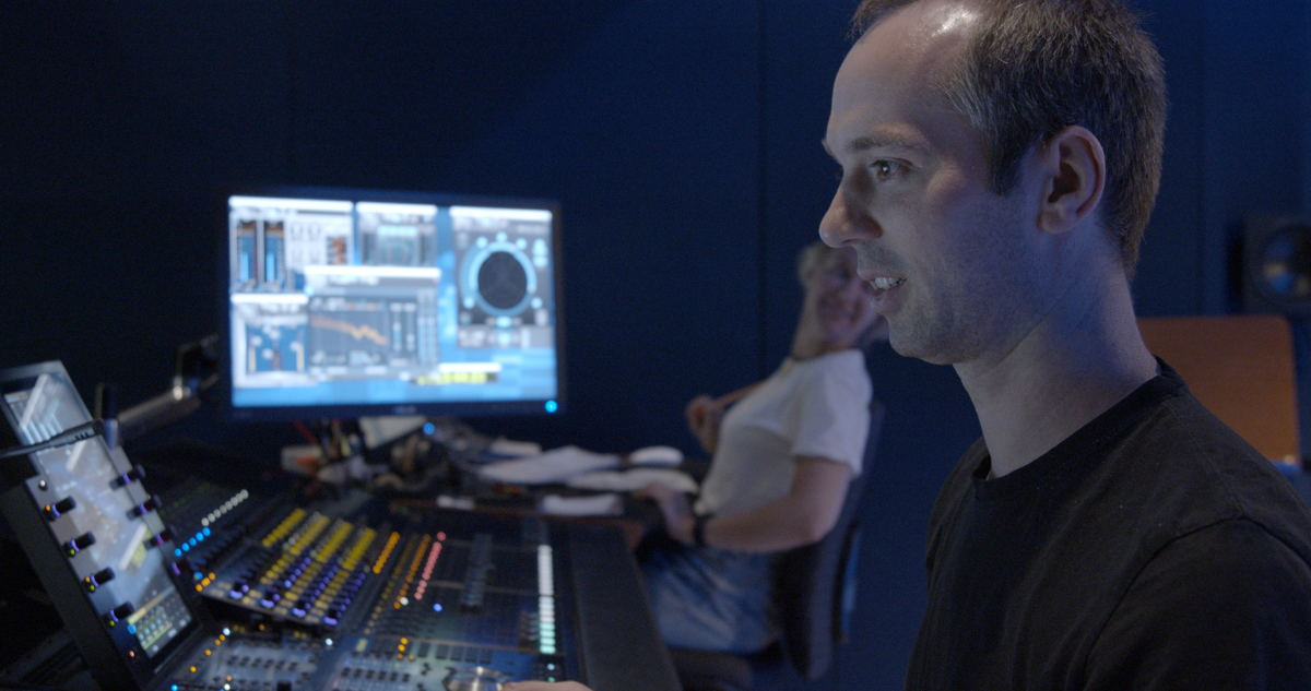 Studio 2 in action: all eight sound engineers were allowed to remix their productions in Dolby Atmos. (Photo: Andreas Barnowsky)