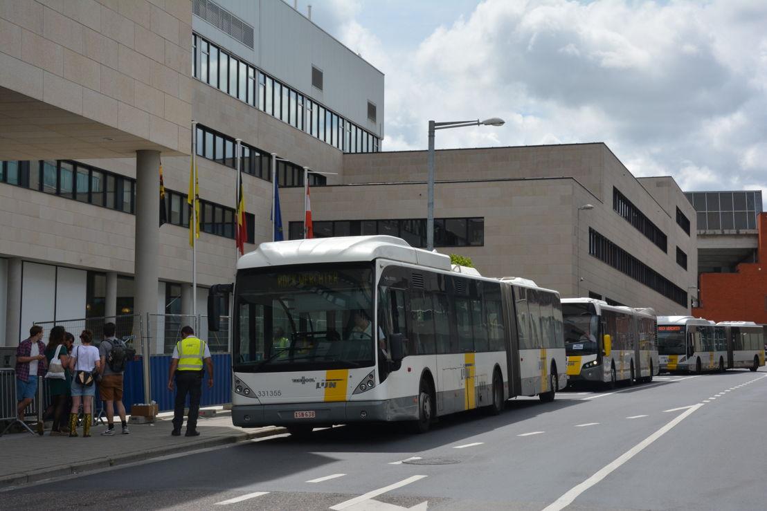 Pendelbussen in Leuven (foto: Arno Janssens)