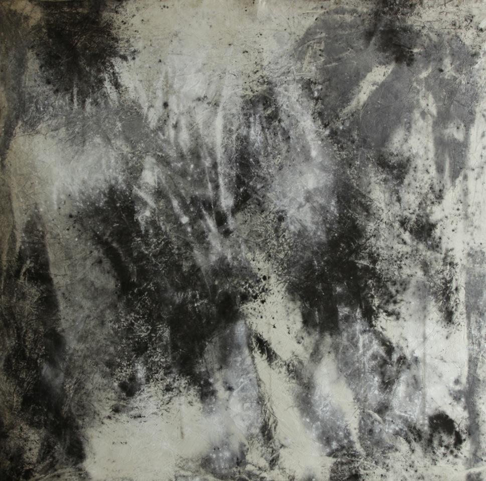 Jessica Warboys, Sea Painting, November, Dunwich, 2014 (c) M - Museum Leuven