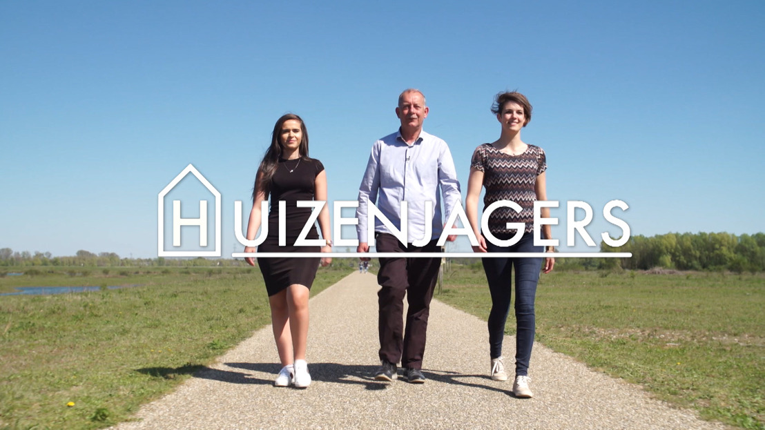 Vanaf 26 augustus een nieuw seizoen Huizenjagers met onder andere Patje Krimson, Jeff Hoeyberghs en Maxime Biset op VIER