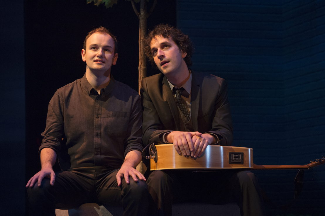 Anton Lipovetsky  and Jonathan Gould in I Think I'm Fallin' - The Songs of Joni Mitchell created by Michael Shamata and Tobin Stokes / Photos by David Cooper