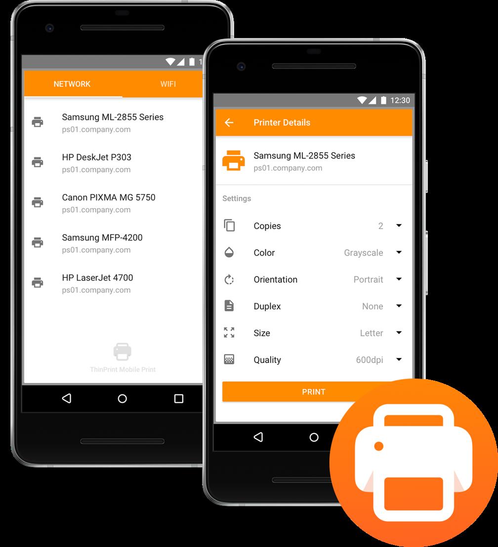 Komfortables Netzwerk-Drucken mit iPhones und Android-Smartphones