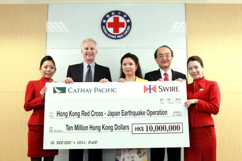 Cathay Pacific Group contributes more than HK$13 million to the Japan earthquake relief