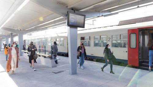 Eerste vernieuwde perron in station Hasselt is klaar