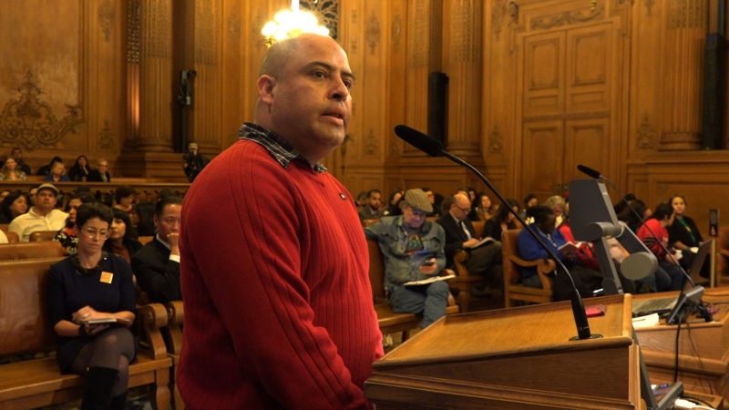 Joaquin Sotelo, facing deportation, addresses San Francisco city council