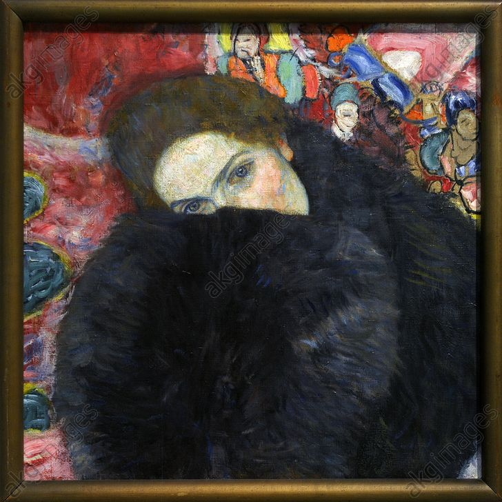 Lady with Cuff, 1916-1917. <br/><br/>Oil on canvas. Private collection. National Gallery of Prague. Czech Republic.<br/><br/>AKG3668200