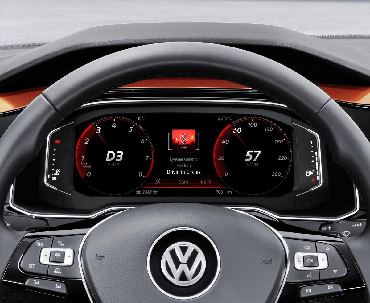 En el Nuevo Polo la interacción entre la Active Info Display y el sistema de infoentretenimiento producen un nuevo ambiente interactivo en la cabina.
