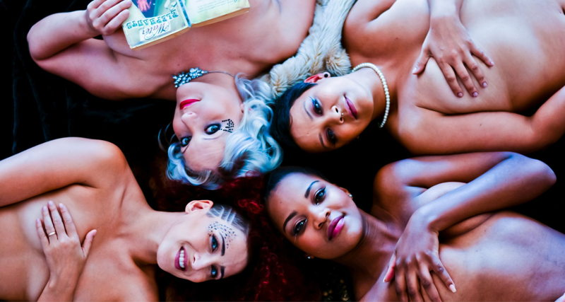 Naked Girls Reading presents Queerly Beloved. Image Credit Zee Hartmann