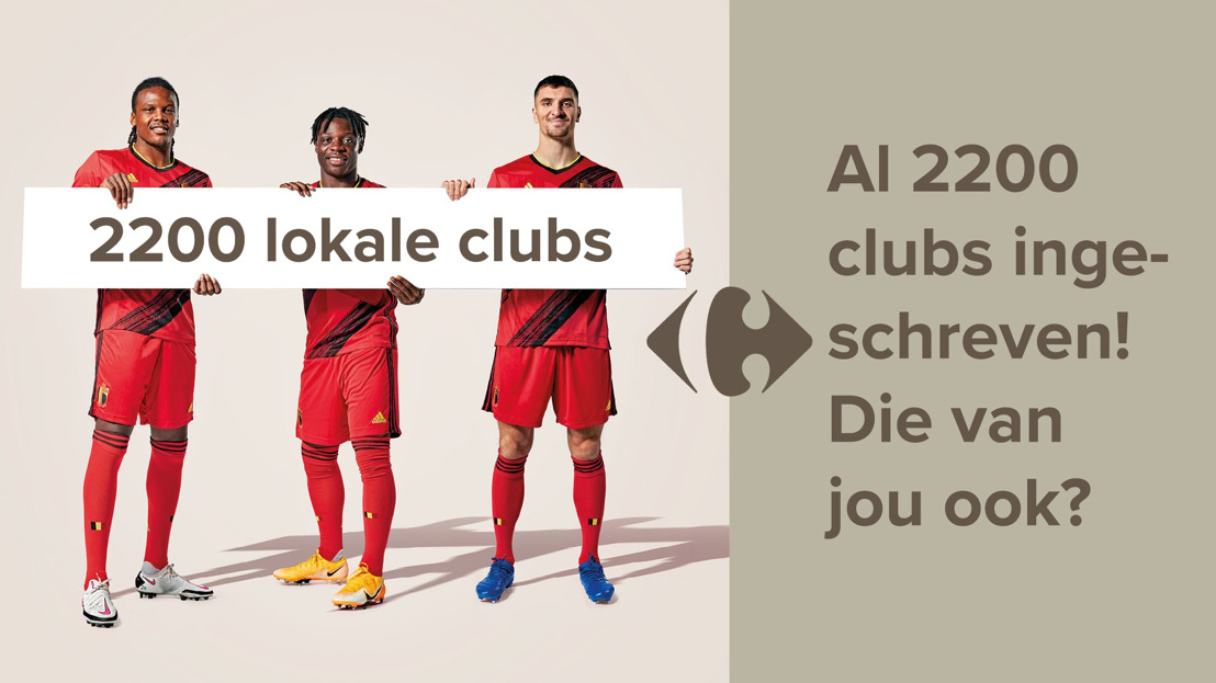 Carrefour en de Rode Duivels steunen amateursportclubs: al meer dan 2200 clubs ingeschreven en 1 miljoen steuncodes verdeeld