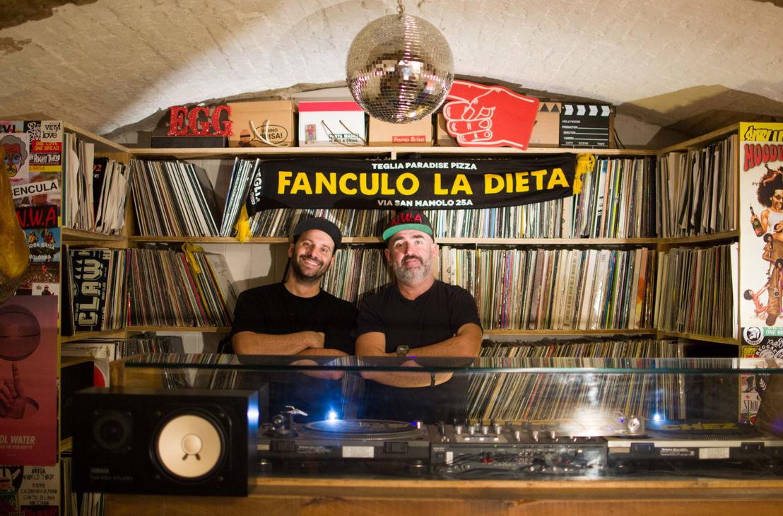 Davide Sarti e Dj Uovo, Teglia Paradise Pizza