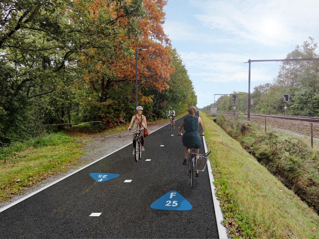 Plannen F25 fietssnelweg in Aarschot klaar