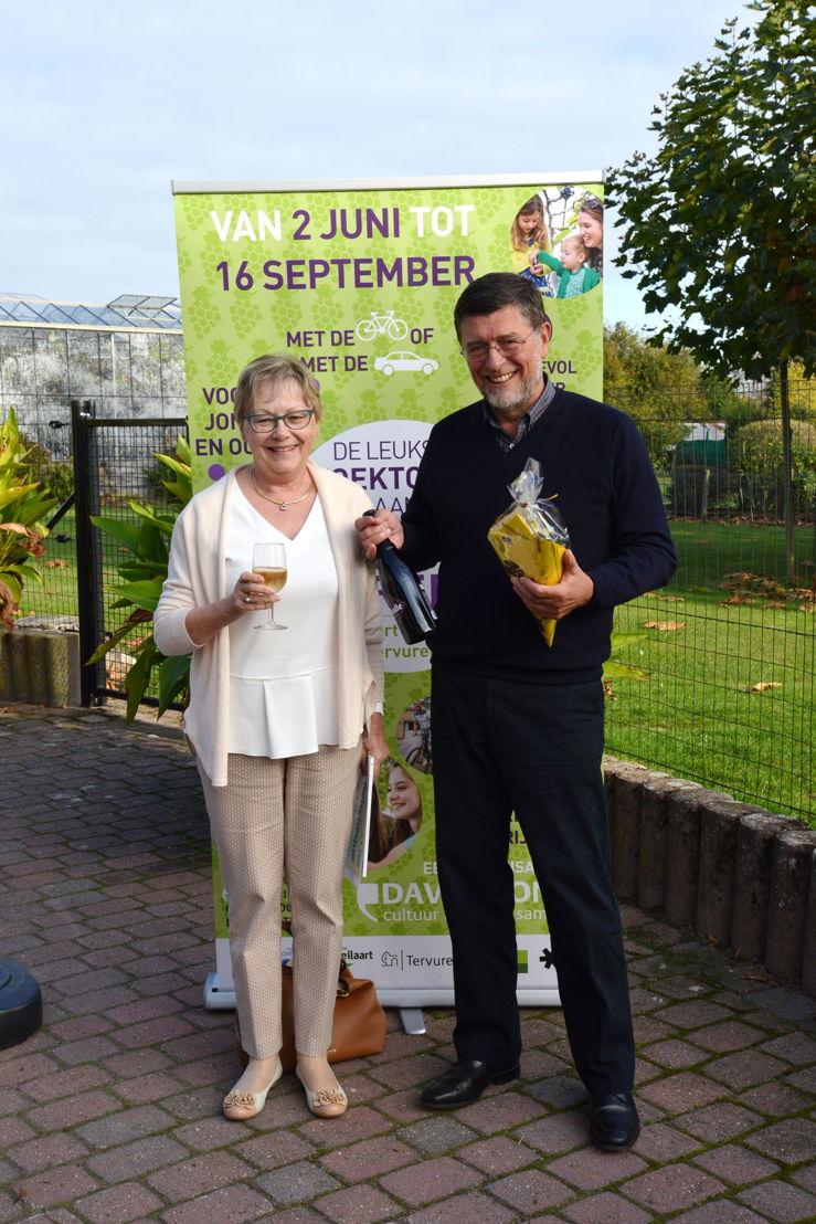 Winnaar Jan De Bolle en zijn echtgenote