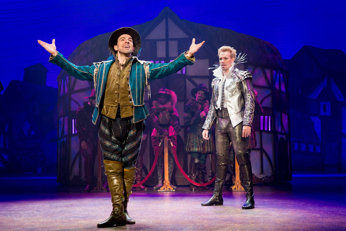 Rob McClure, Adam Pascal and the cast of the Something Rotten! National Tour. © Jeremy Daniel
