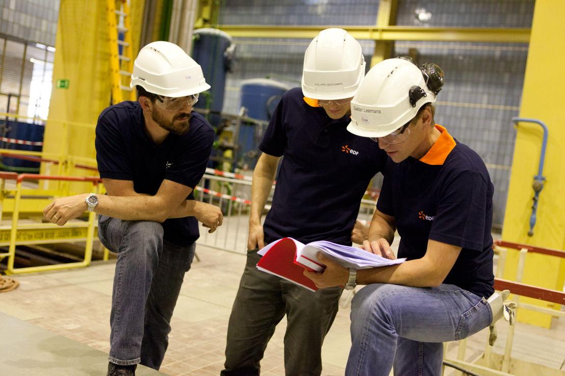 Des collègues EDF Luminus à la centrale thermique de Gand Ham.