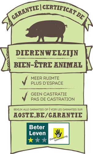 Aoste maakt kookham diervriendelijker