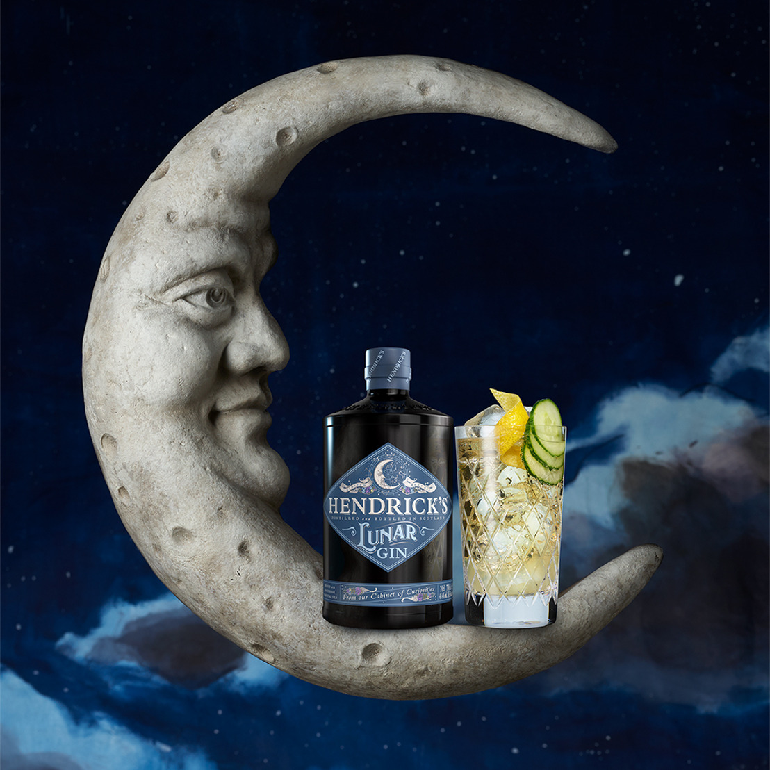 """HENDRICK'S GIN BOTTLES THE COSMIC SENSATION OF MOONLIGHT IN ITS NEWEST LIMITED RELEASE GIN, """"HENDRICK'S LUNAR"""""""