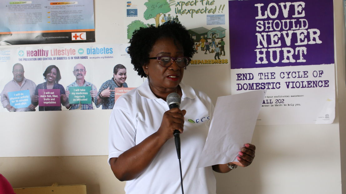 Sensitization campaign in Anse La Raye on World Tuberculosis Day - Lynette Hardy, Monitoring and Evaluation Officer, HIV/TB Elimination Project
