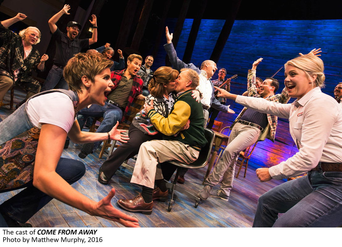 The cast of COME FROM AWAY, Photo by Matthew Murphy, 2016
