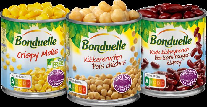 Bonduelle obtient le Nutri-Score A pour tous ses maïs et légumineuses.