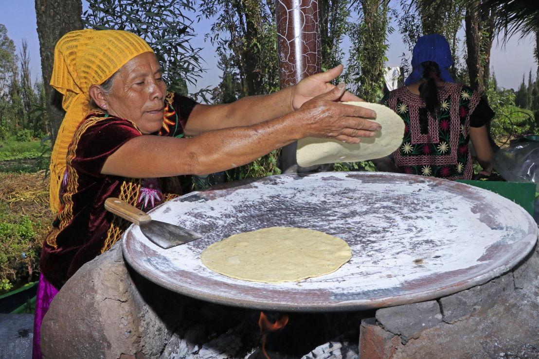 Cocinera típica mexicana