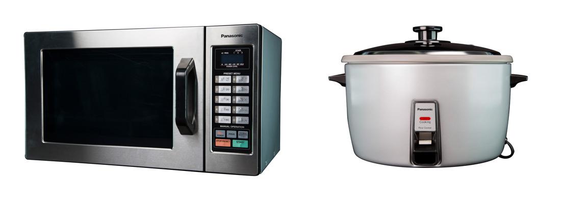 Panasonic amplía su oferta de hornos de microondas y arroceras para uso industrial