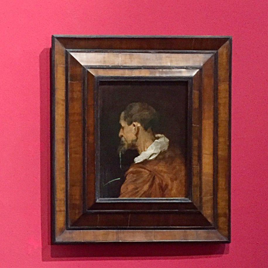 Anthony van Dyck, Studie van een oude man met baard in profiel naar links