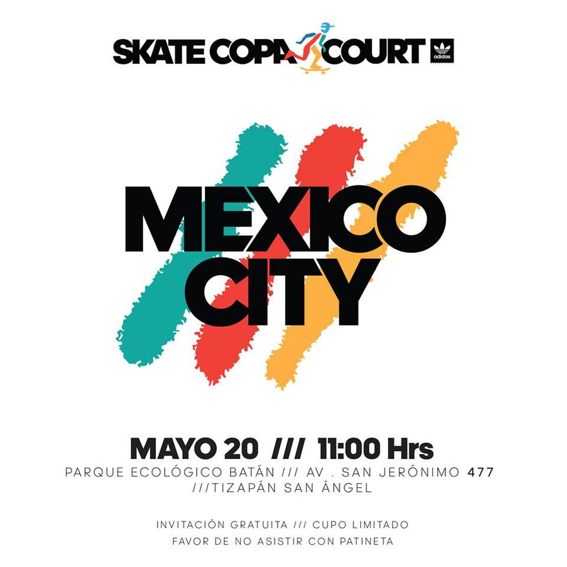 """adidas Skateboarding te invita al inicio del tour latino """"Skate Copa Court"""" 2017"""