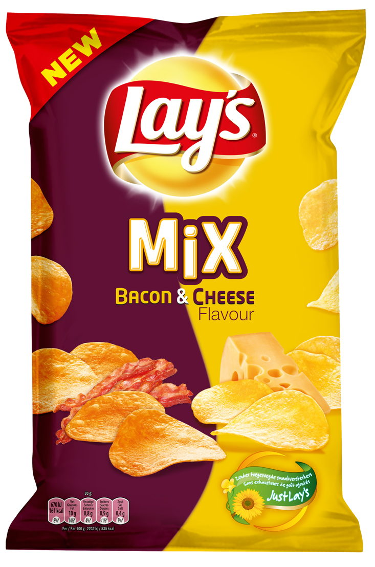 Lay's Mix Bacon & Cheese