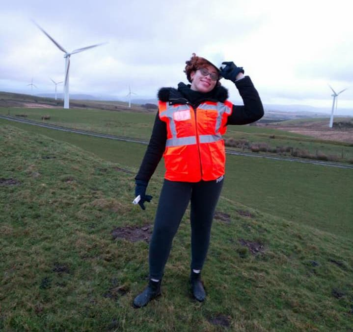 Aria participates in a Renewable Energy Training in Wales, United Kingdom.