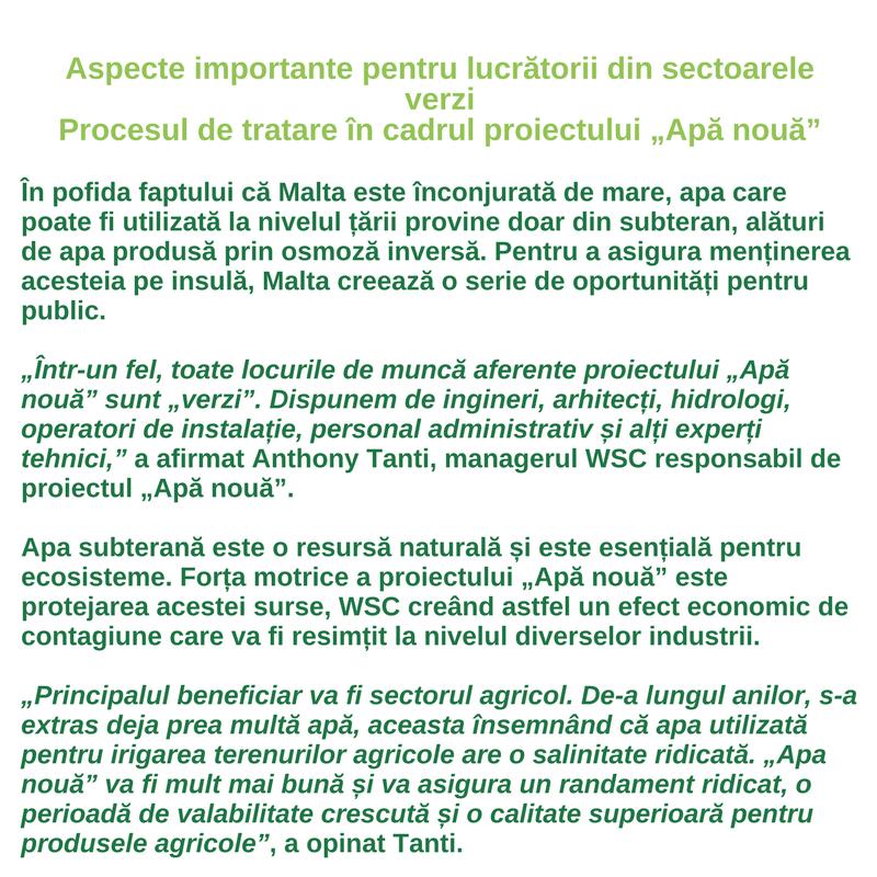 Profilul lucrătorului din sectoarele verzi