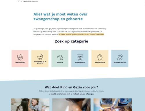 Opgroeien lanceert nieuwe website Kind en Gezin