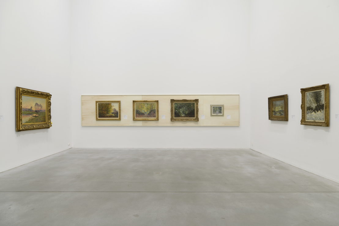 View at the exhibition with works from Lucien Frank & Guillaume Vogels (c) Isabelle Arthuis