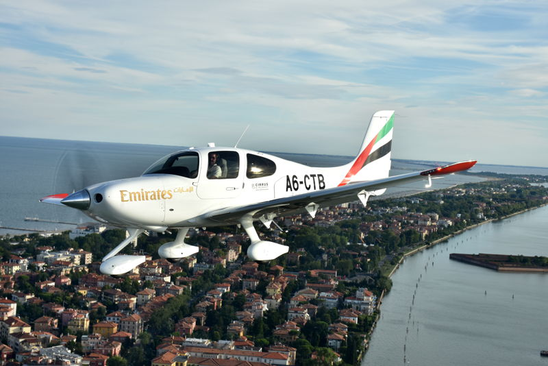 The two Cirrus SR22 G6 aircraft, A6-CTA and A6-CTB, landed in Dubai following a transatlantic journey spanning over 13,000 kilometres.