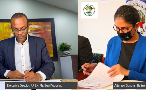Belize Government Signs Development Cooperation Agreement with APEX for Digital Transformation of Courts in Belize