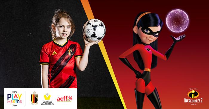 UEFA en Disney stellen Playmakers voor, 'Incredibles' verhalen voor het Belgisch voetbal