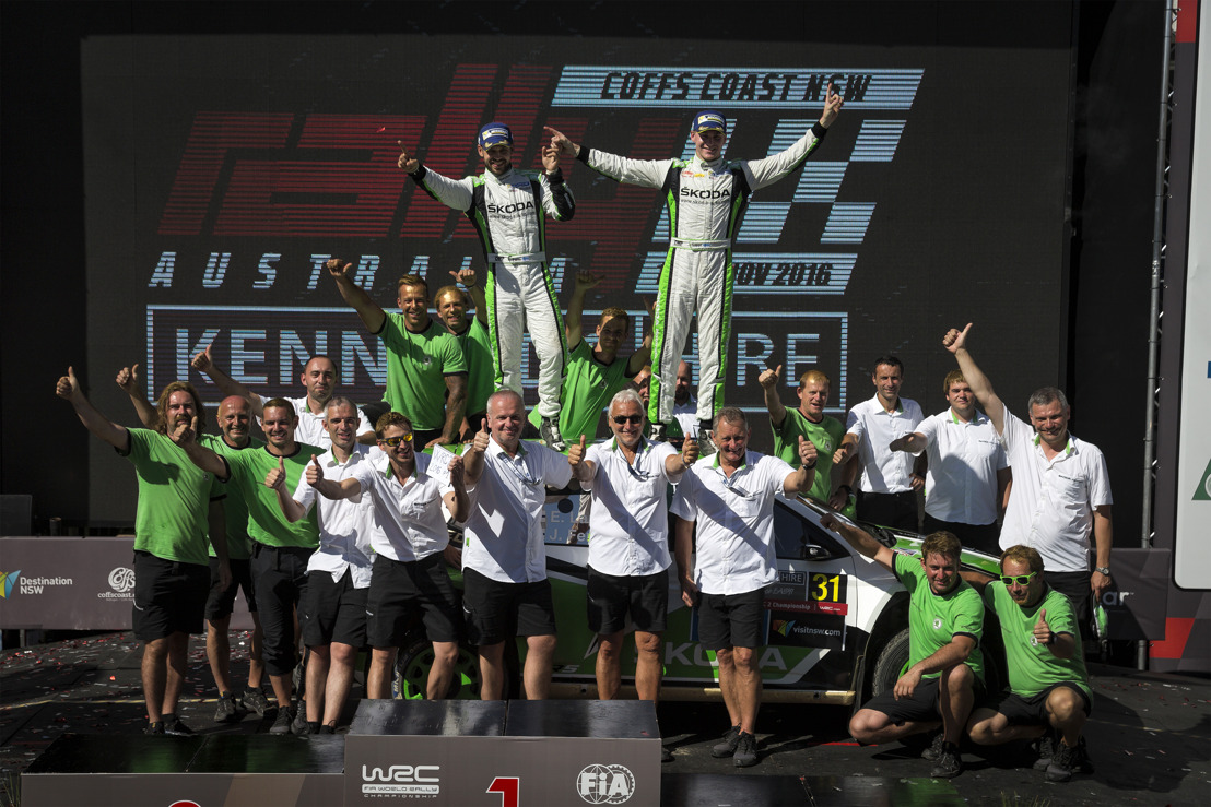 FIA Gala in Vienna: ŠKODA crew Lappi/Ferm receives world championship trophies at the Hofburg