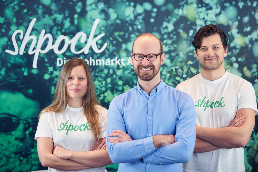 (v.l.n.r.) Co-Founder Katharina Klausberger, CEO Bernhard Baumann, Co-Founder Armin Strbac (Bildcredit: Shpock - Abdruck honorarfrei)