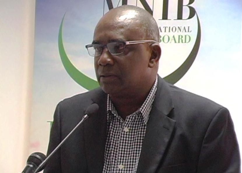 Hon. Oliver Joseph, Minister for Economic Development, addresses the gathering.